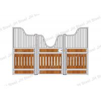 Sliding Door Longlife Horse Stable Front Panel With Plastic Kick Panels Manufactures