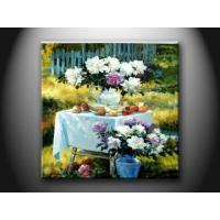 Interior House Landscape Custom oil Paint Handmade Oil Painting with Flower HHD1123 Manufactures