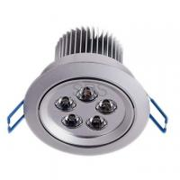 China Indoor White Milky Glass High Power Recessed LED Downlighting with Heatsink for Schools 5w on sale