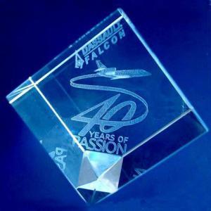 K9 cut corner 3D Laser Engraving crystal block Manufactures