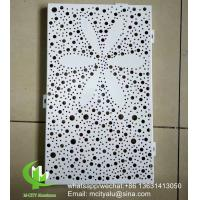 PVDF metal facade Aluminum wall panel cnc cutting perforated panel sheet for facade curtain wall, screen Manufactures