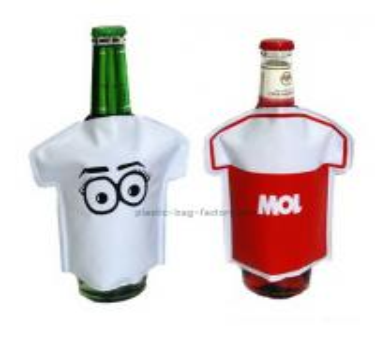 Quality Single Bottle Wine Cooler Bag Cartoons PVC Anti Caustic Bottle Cooler Pack for sale