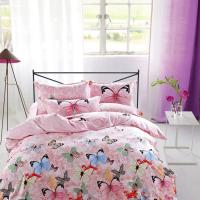 Modern Home Bedroom 4 Piece Bedding Sets 100% Cotton Tancel Material Butterfly Design Manufactures