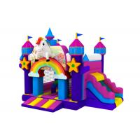 China Popular inflatable the Unicorn combo hot sale inflatable the Unicorn jumping house with slide on sale