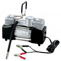 Silver Two Cylinder 12v Heavy Duty Vehicle Air Compressor With Handle 1 Year Warranty Manufactures