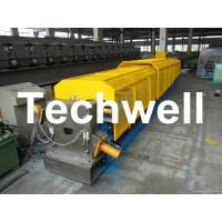"""3"""" * 3"""" Squared Rainwater Downpipe Roll Forming Machine For Water Pipe, Rain Gutter Manufactures"""