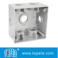 Powder Coated 3 Holes Two Gang Weatherproof Electrical Boxes Manufactures
