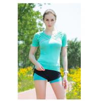 Quick Dry Short Sleeve Ladies Gym Tops 50+ UPF Designed For UV Protection Manufactures