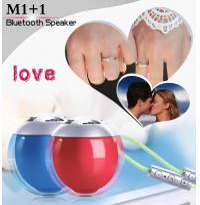 China Red Blue BK3.0 Cube Bluetooth Speaker Ball 5.8CM Diameter Plastic Material on sale
