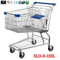 155L Hyper Market / Grocery Shopping Trolley With Transparent Powder Coating Manufactures