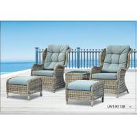 Doube Person Outdoor Rattan Chairs Sofa Furniture With Small Seat For Feet Manufactures
