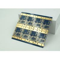 6 Layer High Frequency, Material HDI PCB Blue Solder Mask BGA
