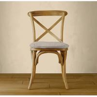Upholstered metal and wood kitchen chairswith Cross Back for dining table side Manufactures