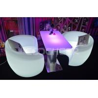 Fireproof Illuminated Lounge Furniture , Led Bar Chair Remote Control KC - 9573 Manufactures