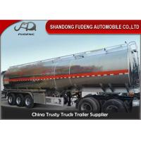 China 45 cbm FUWA axle petrol fuel tanker semi trailer aluminium alloy sale on sale