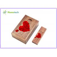 Quality Logo Engaved Usb Wooden Memory Sticks U Disk 5-15MB/S Reading Speed For Wedding for sale