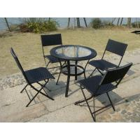 Riverside European Style Dining Furniture Sets With Folding Chair Manufactures