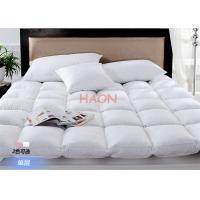 Luxury Hotel Mattress Protector Filling With Duck Down / Goose Down , Hotel Mattress Pad Manufactures