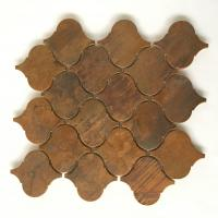 Factory Supply Bronze  Metallic Copper Tiles Lantern Design For Kitchen Backsplash Metal Tiles