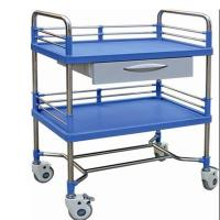ABS Plastic Drawer Emergency Medicine Trolley Stainless Steel Frame Medical Instrument Cart Manufactures