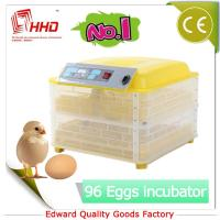 EW-96 Newest CE certificate automatic plastic chicken egg incubator egg tray Manufactures
