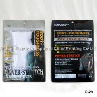 China Clear / Transparent Zipper Plastic Garment Bags, Costomized Packaging Pouch on sale