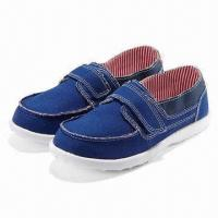 Children's Casual Shoes with Canvas Upper and TPR Outsole Manufactures