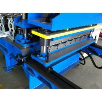 18 Stations/0.3-0.5mm Roof Tile Cold Roll Forming Machine Hydraulic Automatic Cutting Manufactures