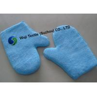 China 100% Polyester Thickened Microfiber Wash Mitt , Microfiber Dusting Mitt on sale