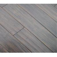 China Handscraped Horizontal Bamboo Flooring Black on sale