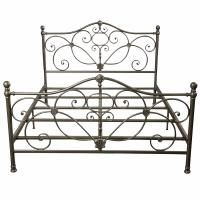 Bedroom Antique Antique Wrought Iron Bed Frame ,  Metal Furniture Bed Manufactures