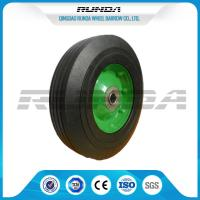 Galvanized Surface Solid Rubber Wheels , 8 Inch Solid Rubber Tires Centered Hub Manufactures