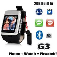 The Newest Build-in Bluetooth Headset Watch Mobile Phone G3 Manufactures