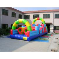 0.55mm PVC Tarpaulin Inflatable Amusement Park Bounce House Combo Commercial Grade Manufactures