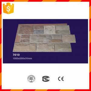 Light weight waterproof exterior pu stone look wall panels