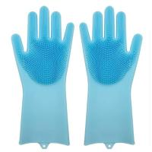 China Magic Heat Resistant  Silicone Dishwashing Gloves Washing Cleaning Gloves on sale