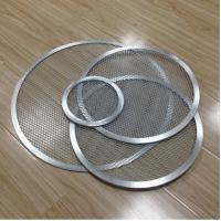 Aluminum Expanded Mesh Wire Pizza Baking Tray , Metal Pizza Net 6-20 Inch Customized Manufactures