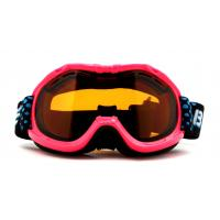 Pink Waterproof UV Protection Kids Ski Goggles Helmet Compatible with CE certificate Manufactures