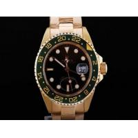 Wholesale Rolex GMT-Master II Automatic GMT Working Full Gold With Black Dial-Green watch Manufactures