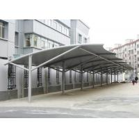 Professional Tensile Membrane Structures Car Park Shade Structures Steel Cable Tightened Manufactures
