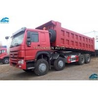China 12 Wheelers Howo 8x4 Heavy Duty Dump Truck Tipper 40-50tons Loading Euro 2 on sale