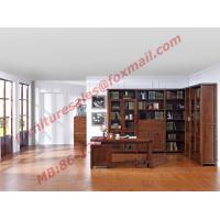 Solid Wooden with Glass Door Material Bookcase Set  for Living Room Furniture Manufactures