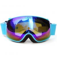 Quality Wide View Blue Mirrored Ski Goggles Professional Outdoor Sports Equipment for sale