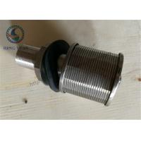 316L Stainless Steel Wedge WIre Slot Water Screen Nozzle 57mm Diameter Manufactures