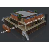 Customized Modular Prefab Container House For Shopping Center or Coffee Bar Manufactures