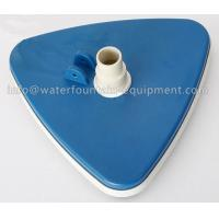 Triangular Liner Swimming Pool Accessories Vacuum Head With Swivel Cuff Manufactures