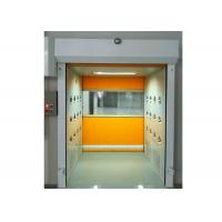 PVC Rolling Shutter Door Cleanroom Air Shower Micro-electronics PLC Control System Manufactures