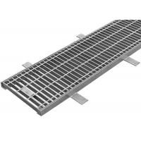 China Exterior Driveway Stormwater Grates , Drainage Steel Grating With Hinged Inlet on sale