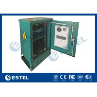 """18U Standard 19"""" Rail Outdoor Pole and Floor Mounted Cabinet With Air Conditioner Manufactures"""