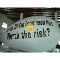 White Inflatable Giant Advertising Balloons blimps with Full digital printing for parties Manufactures